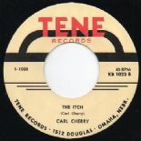 "45Re ✦ CARL CHERRY ✦ ""The Itch / Baby Doll"" Killer Legendary Rockabilly Bopper ♫"
